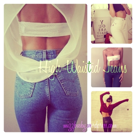 High Waisted Jeans Collage